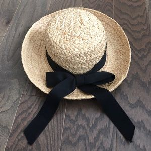 The Scala Collection Straw Hat with Black Bow